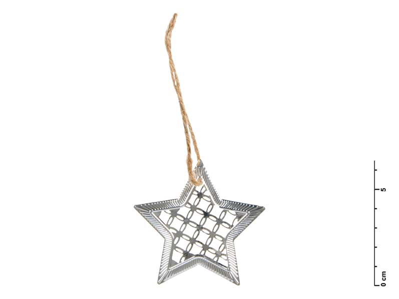 hviezda kov strieborná 7 cm - záves 8885533
