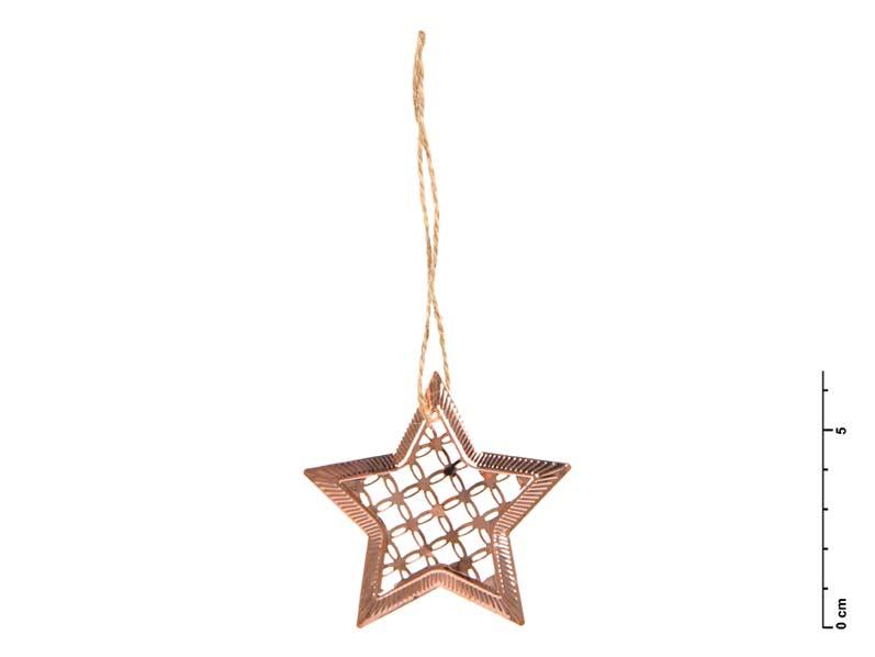 Hviezda kov medená 7 cm - záves