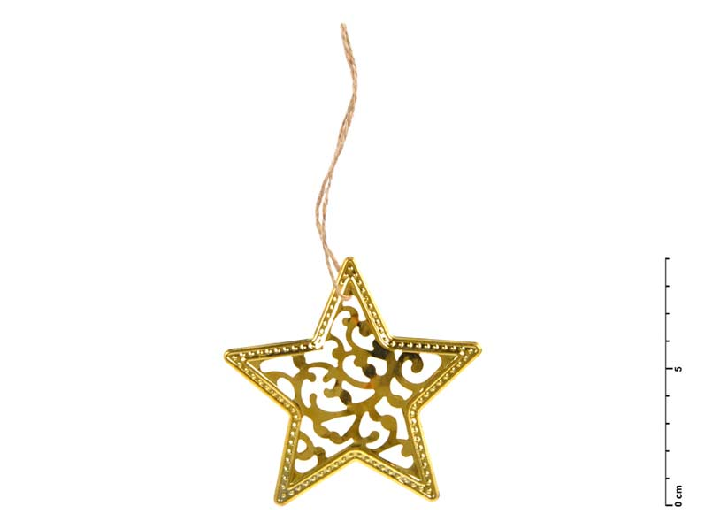 Hviezda kov zlatá 9 cm - záves