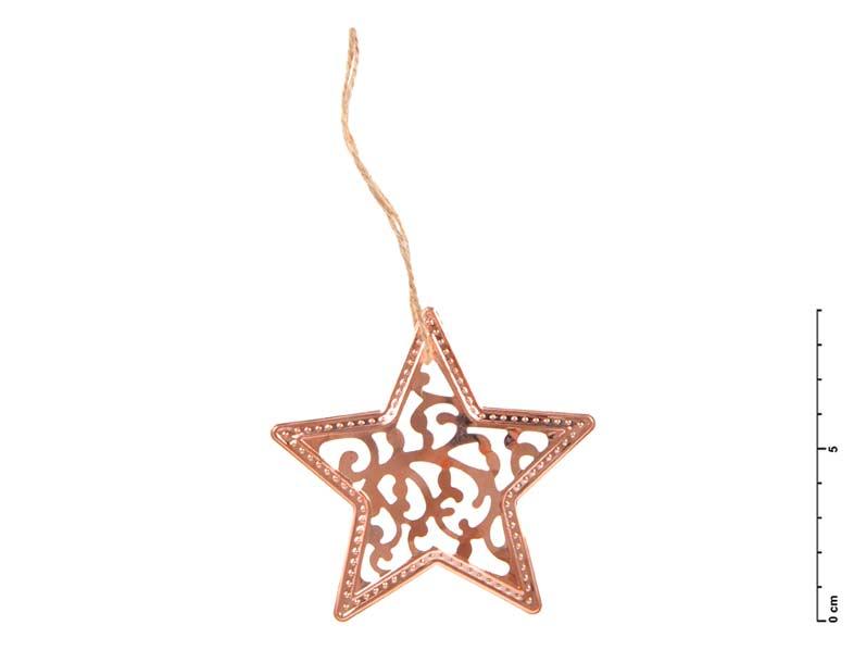 Hviezda kov medená 9 cm - záves