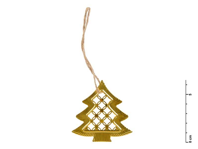 stromček kov zlatý 6,5 cm - záves 8885540