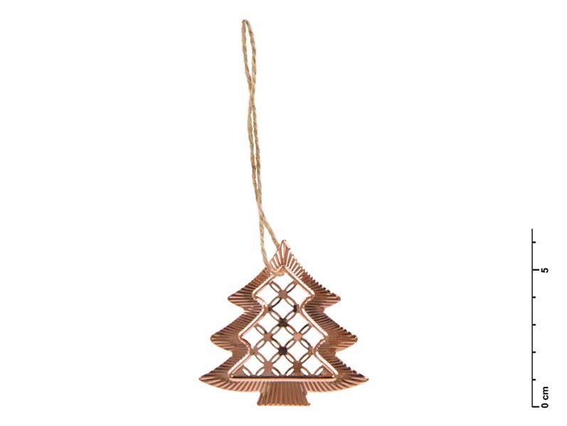 Stromček kov medený 6,5 cm - záves