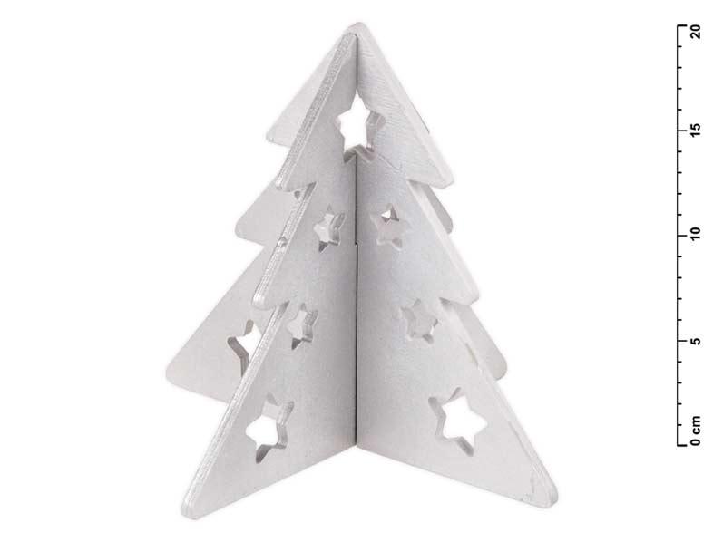 stromček drevo skladací strieborný s glitrom 20cm 8885547