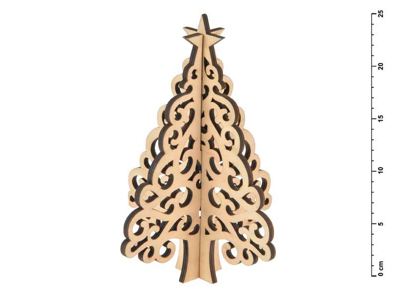 Stromček drevo skladací prírodný 25 cm