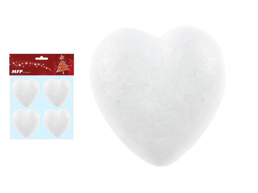 Srdce set 8cm/4ks hladké