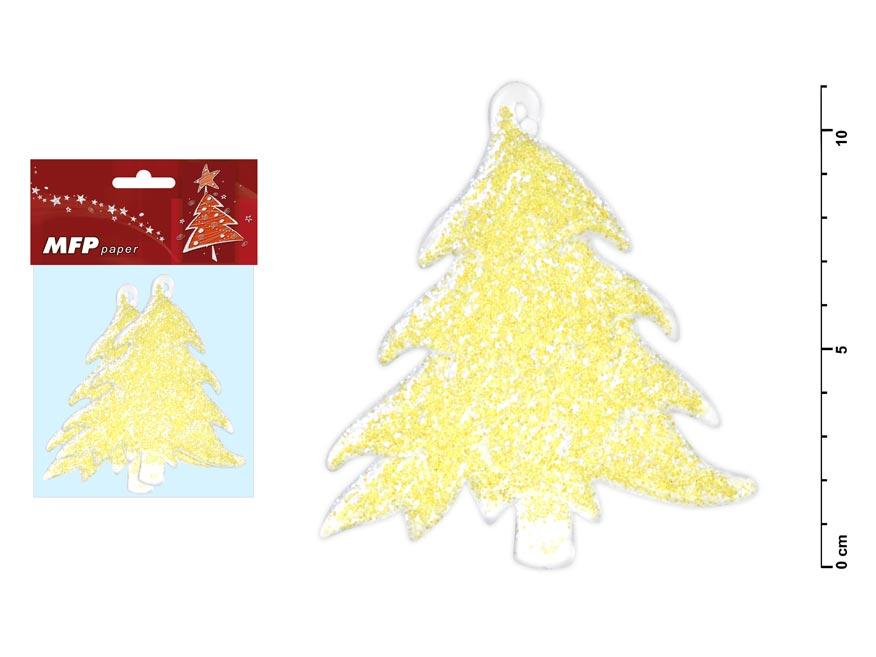 stromček acrylic s glitrom sa 11cm/2ks 8885574