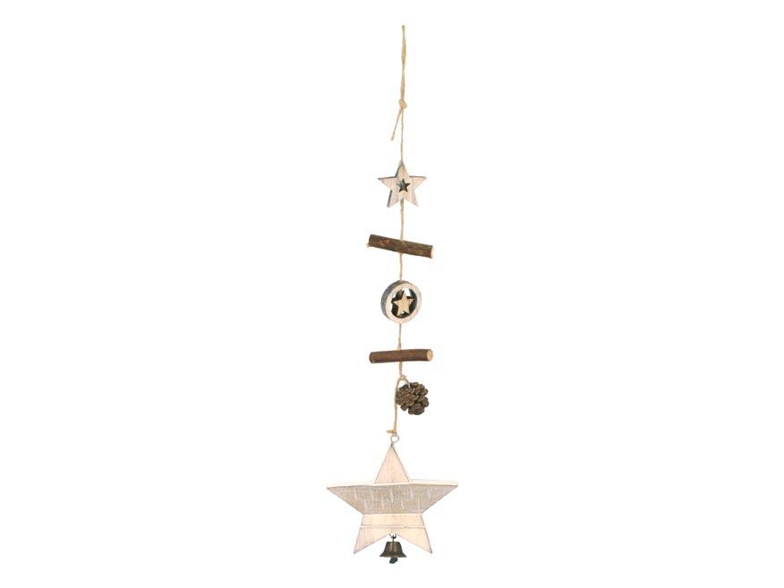 Hviezda záves drevený 10x9,5/45cm HW- 54707A
