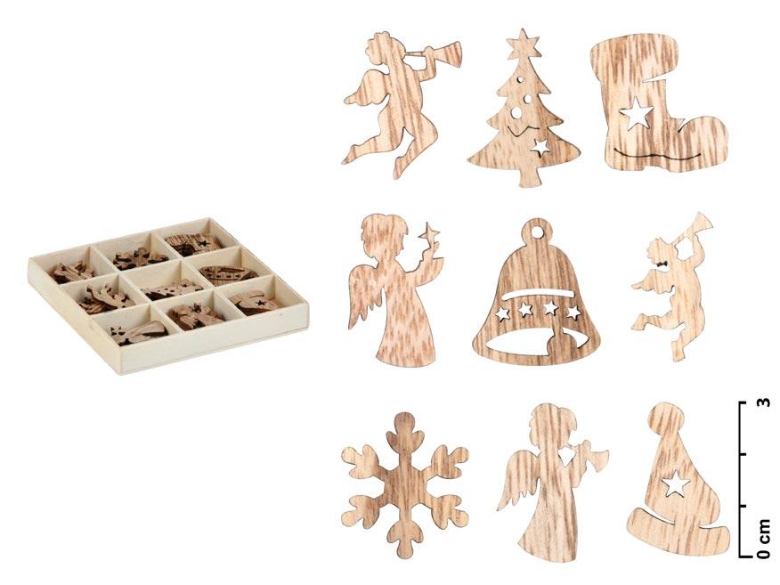 Ozdoby drevené set 3cm/27ks ZC171147