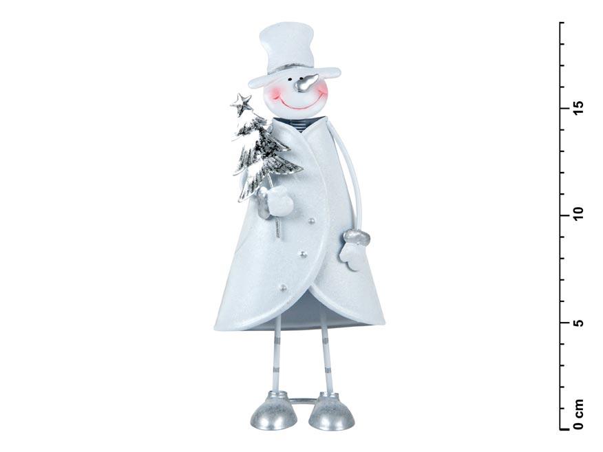 Snehuliak plechový č. 1 - 18 cm