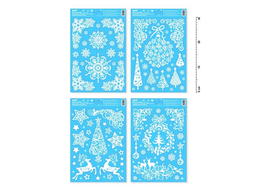 okenná fólia vianočná gliter VA003 20x30cm 8885723