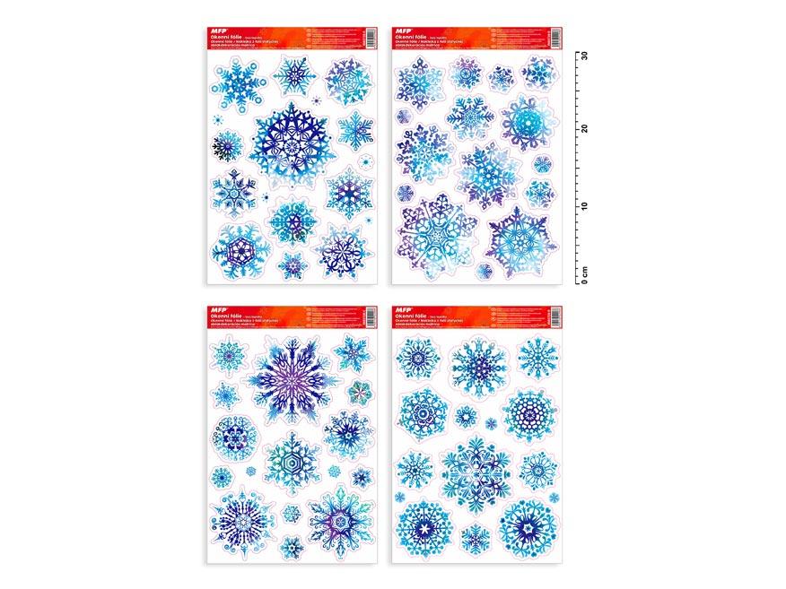 okenná fólia vianočná gliter VA008 20x30cm 8885728