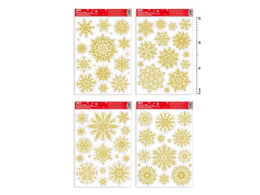okenná fólia vianočná gliter VA010 20x30cm 8885730
