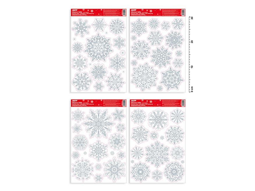 okenná fólia vianočná gliter VA011 20x30cm 8885731
