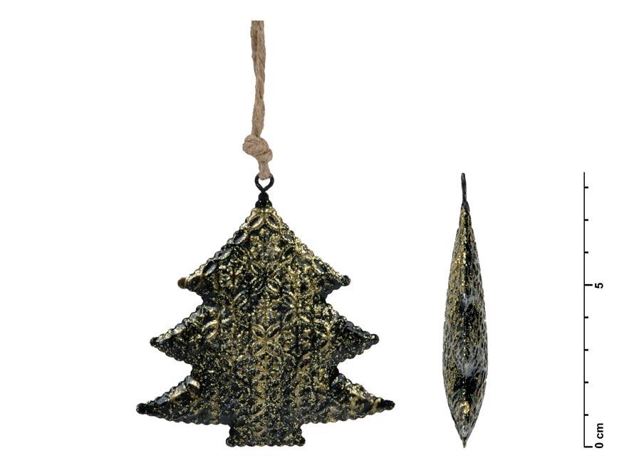 stromček záves plech čierny 8,5cm 8885738