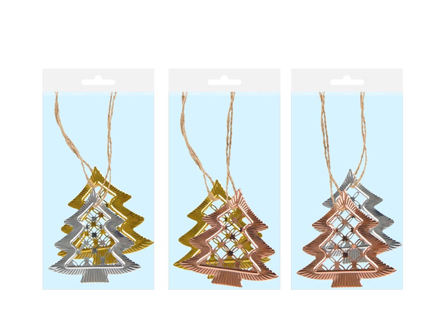 stromček kov MIX 6,5 cm - záves 2 ks 8885753