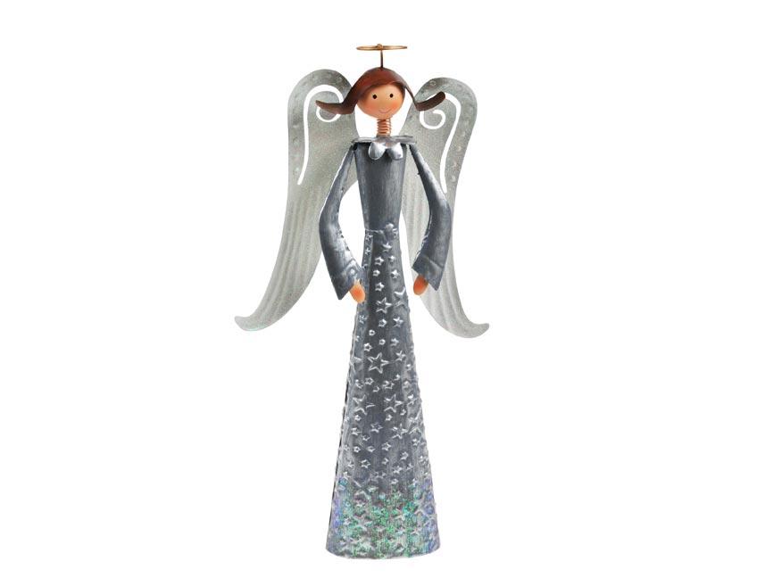 Anjel plech 37cm - strieborný
