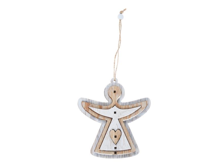 anjel drevený 12,5cm 3D záves 8885797