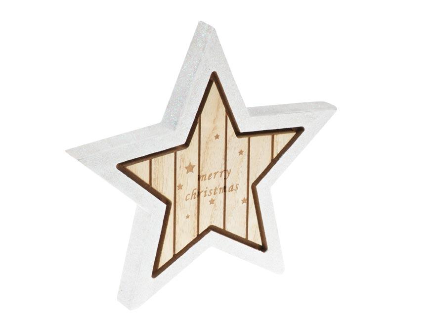 hviezda drevo 19,5cm 8885802
