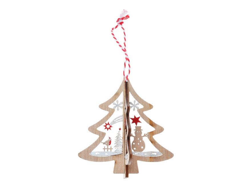 stromček 2ks drevo 3D 8cm záves 8885810