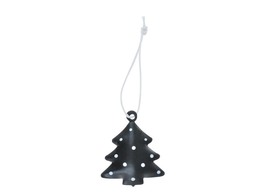 stromček 3ks plech 4,5cm so závesom - čierny 8885823