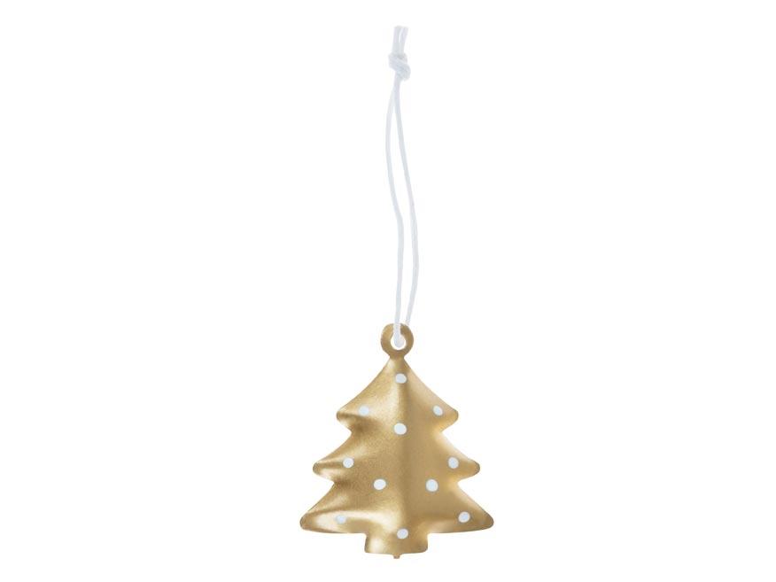 stromček 3ks plech 4,5cm so závesom - zlatý 8885824