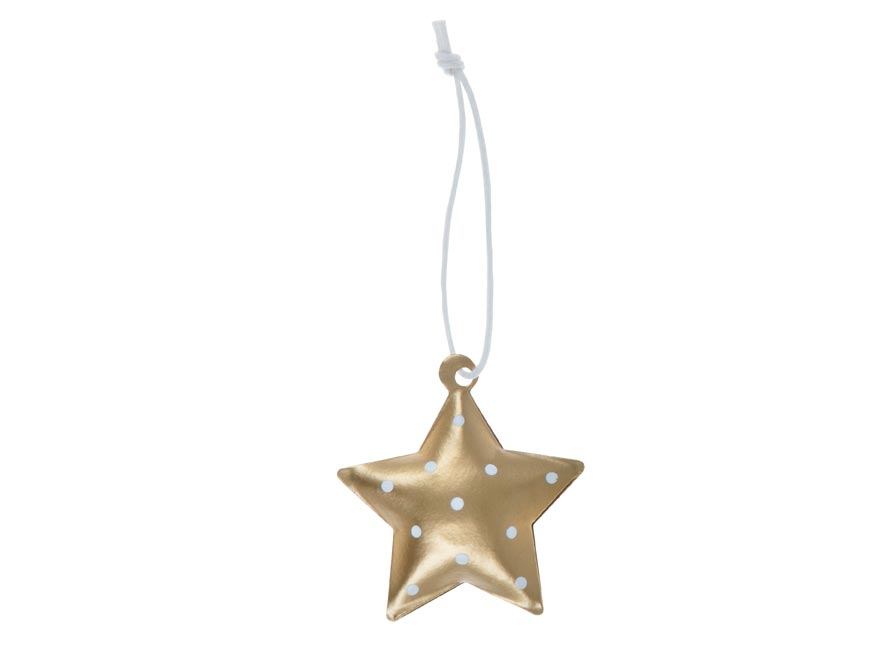 hviezda 3ks plech 4,5cm so závesom - zlatý 8885827