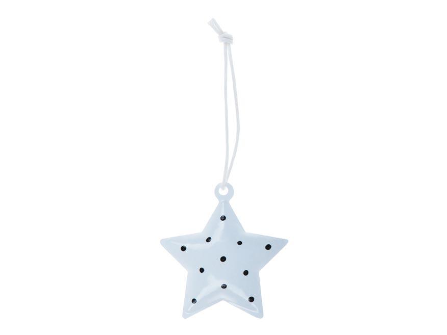hviezda 3ks plech 4,5cm so závesom - biely 8885828