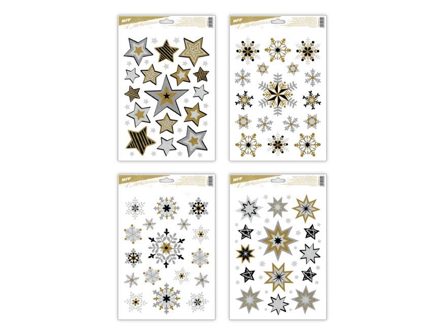 okenná fólia vianoce gliter VA016 20x30cm 8885841