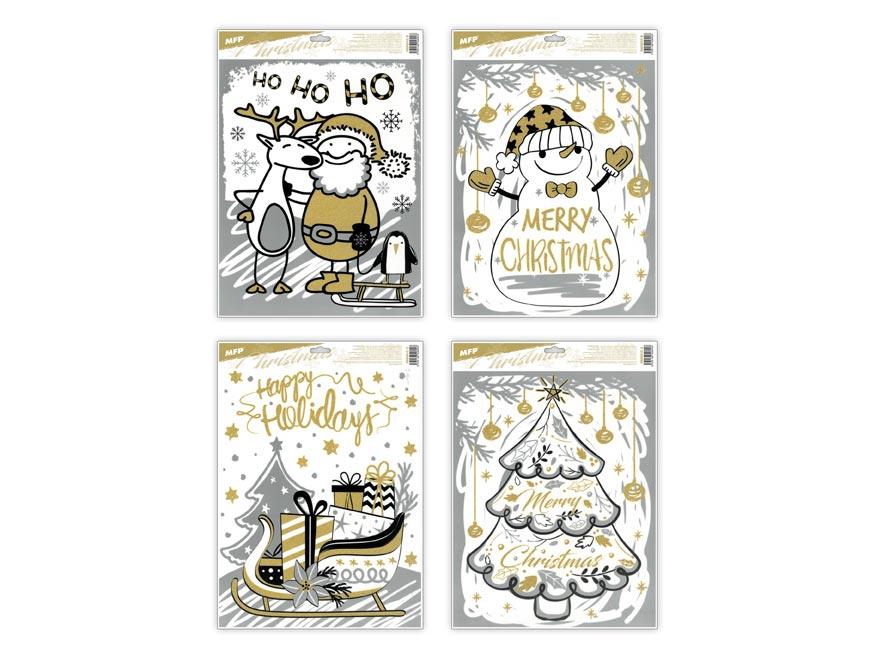 MFP 8885842 Okenná fólia vianočná gliterVA017 30x42cm