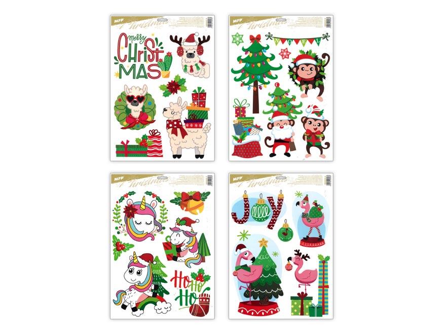 MFP 8885843 Okenná fólia vianočná funny VA018 30x42cm