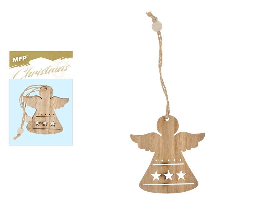 Anjel  záves drevený 2ks/7cm XC2018611
