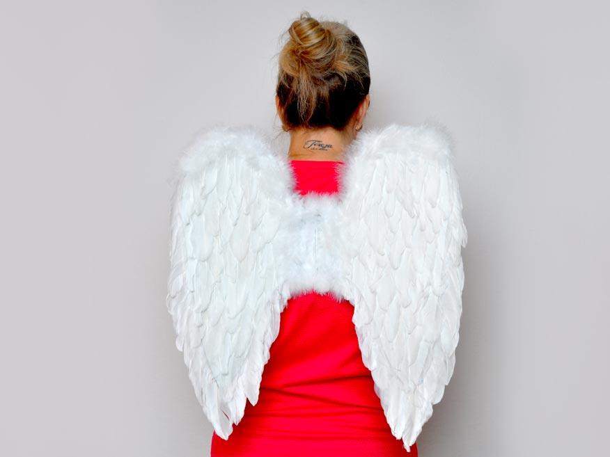 Anjelská krídla z perie 50x50cm