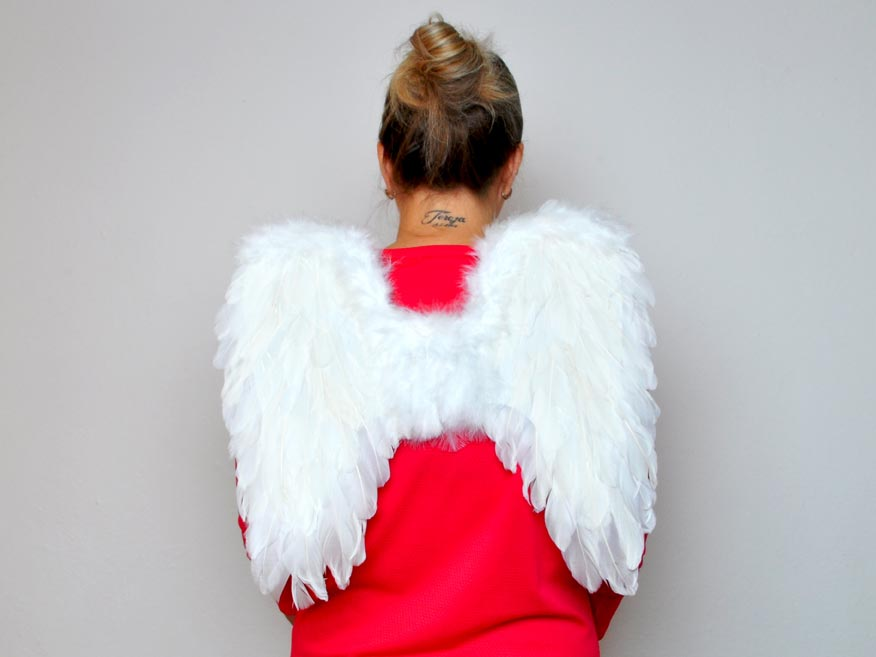Anjelská krídla z perie 44x42cm