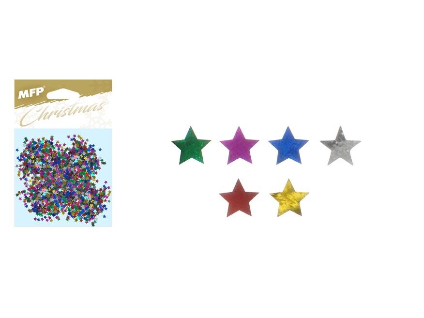 Konfety hviezdičky 20g mix farieb