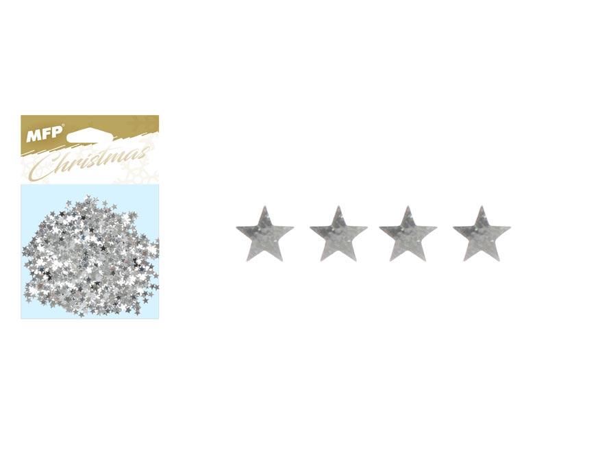 konfety hviezdičky 20g strieborné 8885886