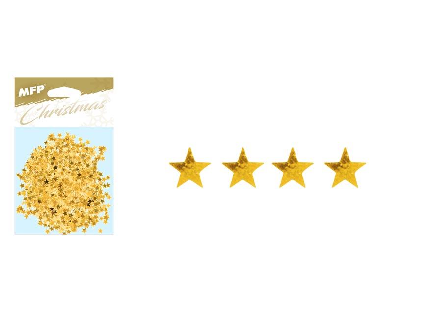 konfety hviezdičky 20g zlaté 8885887
