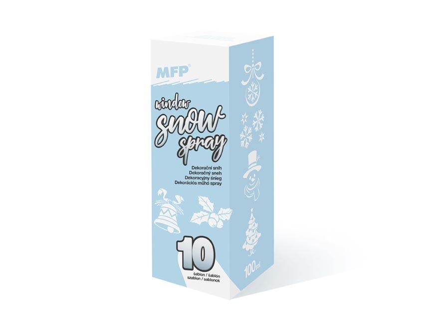 MFP 8885889 sprej sneh na okná dekoračný 100ml so šablónami