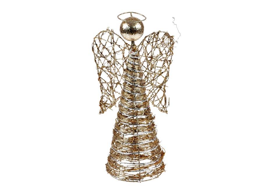 anjel ratan zlatý vianočný 35cm R4588 8885934