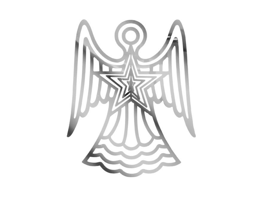anjel strieborný záves vianočný plech. 9,9x12,1cm 1804B-18(12CM) 8885951