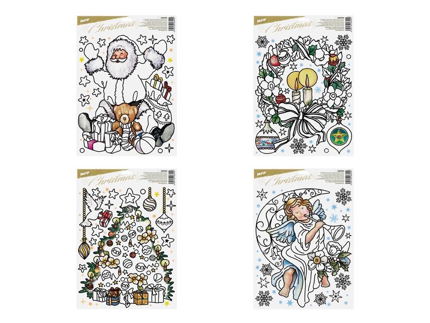 okenná fólia vianočná vyfarbovacia WDPX- 602 30x42cm 8885998