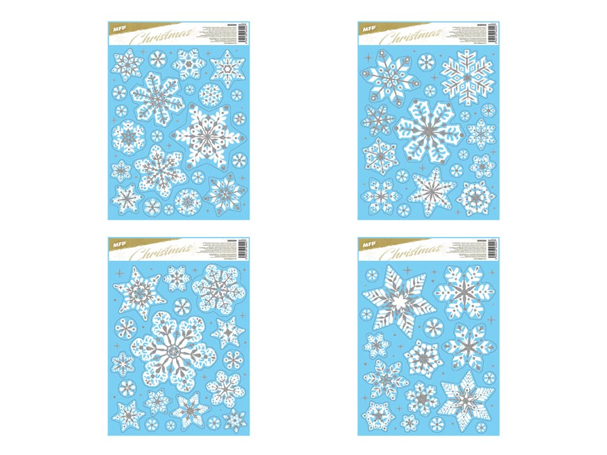 okenná fólia vianočná gliter WDGX- 3062(S) 30x42cm 8885999
