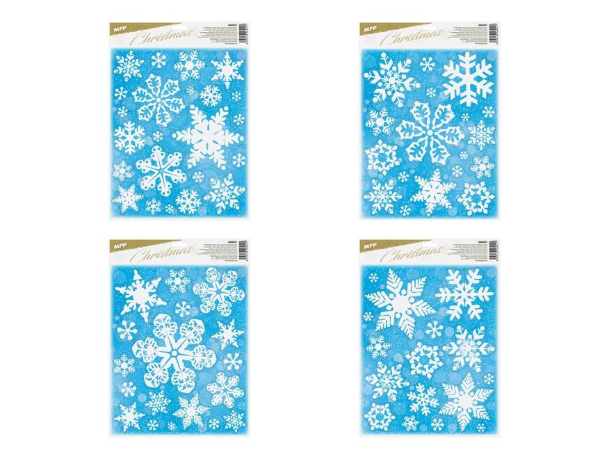 okenná fólia vianočná gliter WDGX- 644 30x42cm 8886001