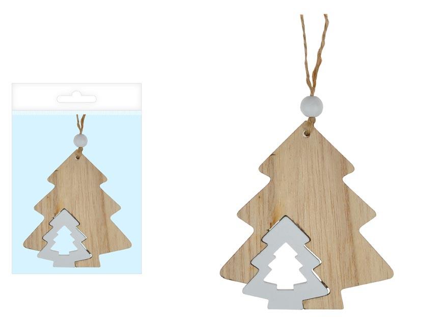 MFP 8886006 stromček drevo prírodné 8cm záves