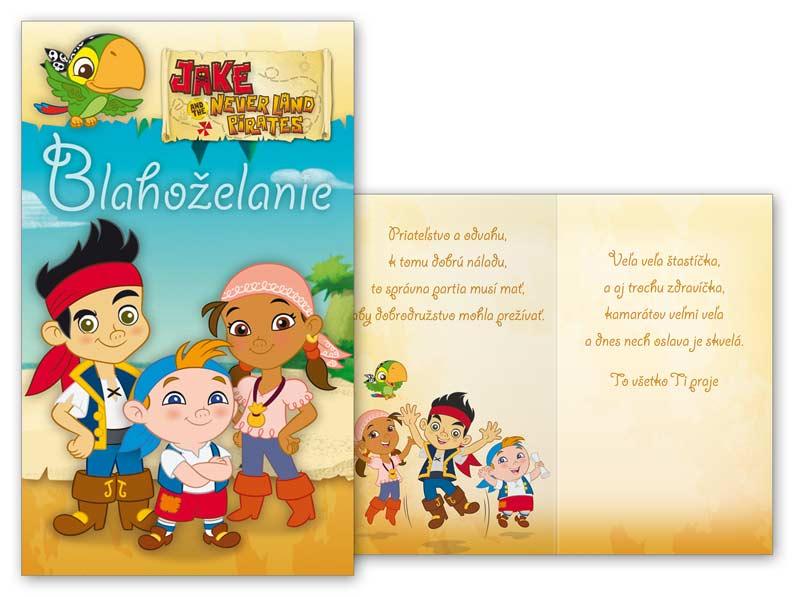 SK Blahoželanie detské M33-056 H Disney (Jake)