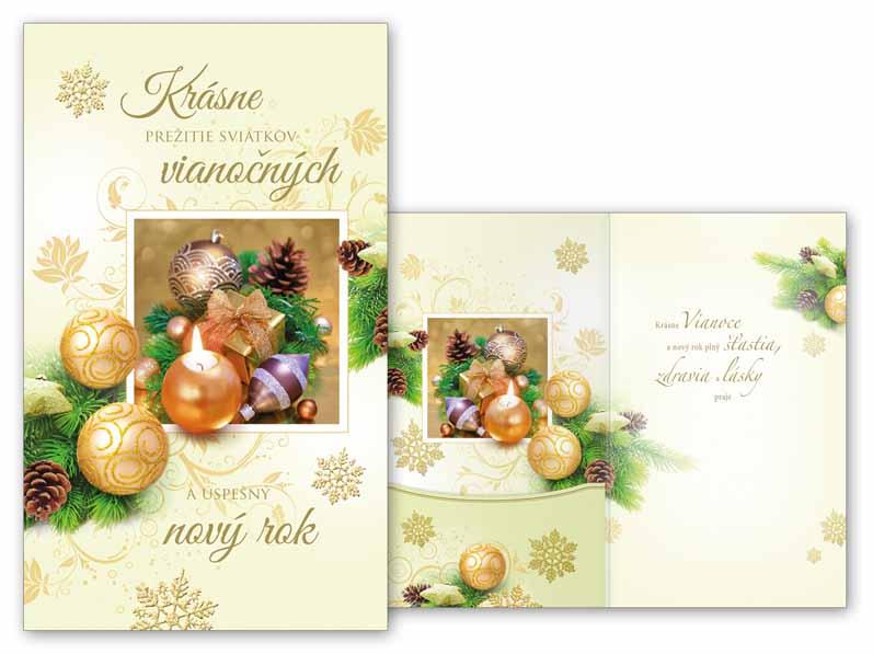 SK Blahoželanie vianočné V24-331 H na peniaze