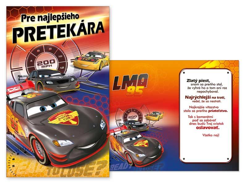 SK Blahoželanie detské M33-067 H Disney (Cars)