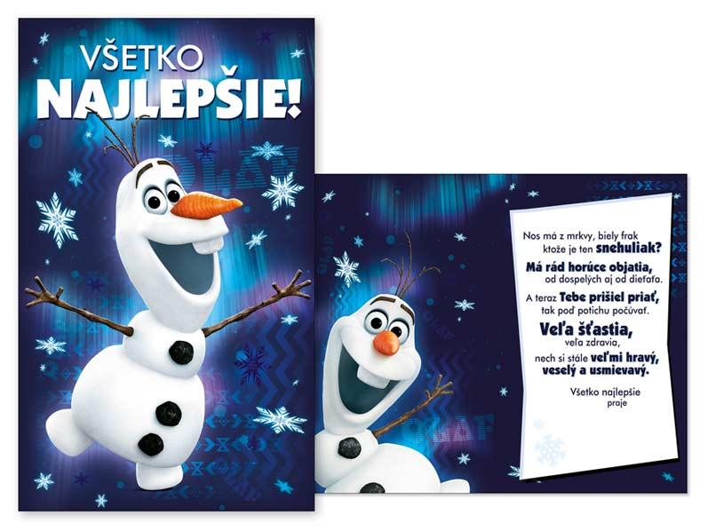 SK Blahoželanie detské M33-069 H Disney (Frozen)