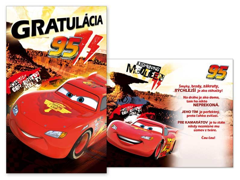 SK Blahoželanie detské M33-070 H Disney (Cars)