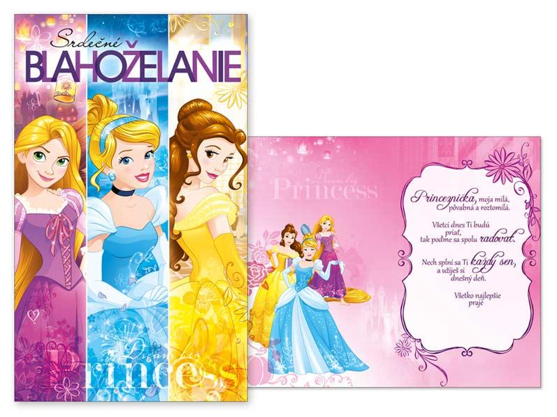 SK Blahoželanie detské M33-072 H Disney (Princess)