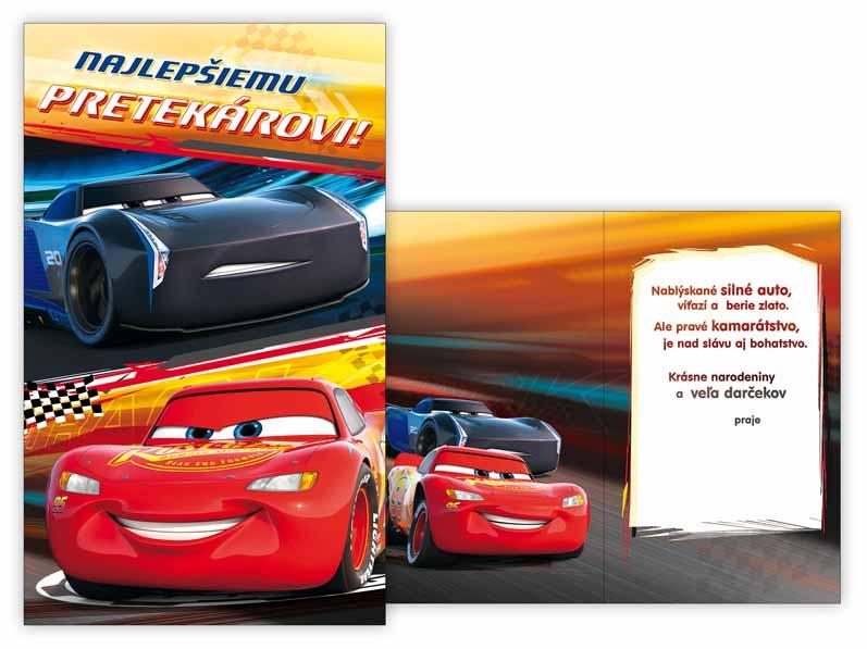 SK Blahoželanie detské M33-075 H Disney (Cars)
